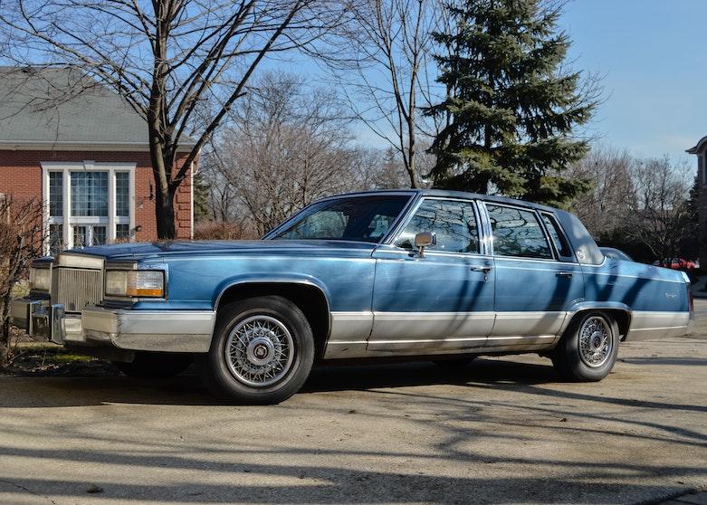1991 Blue Cadillac Brougham D Elegance Ebth