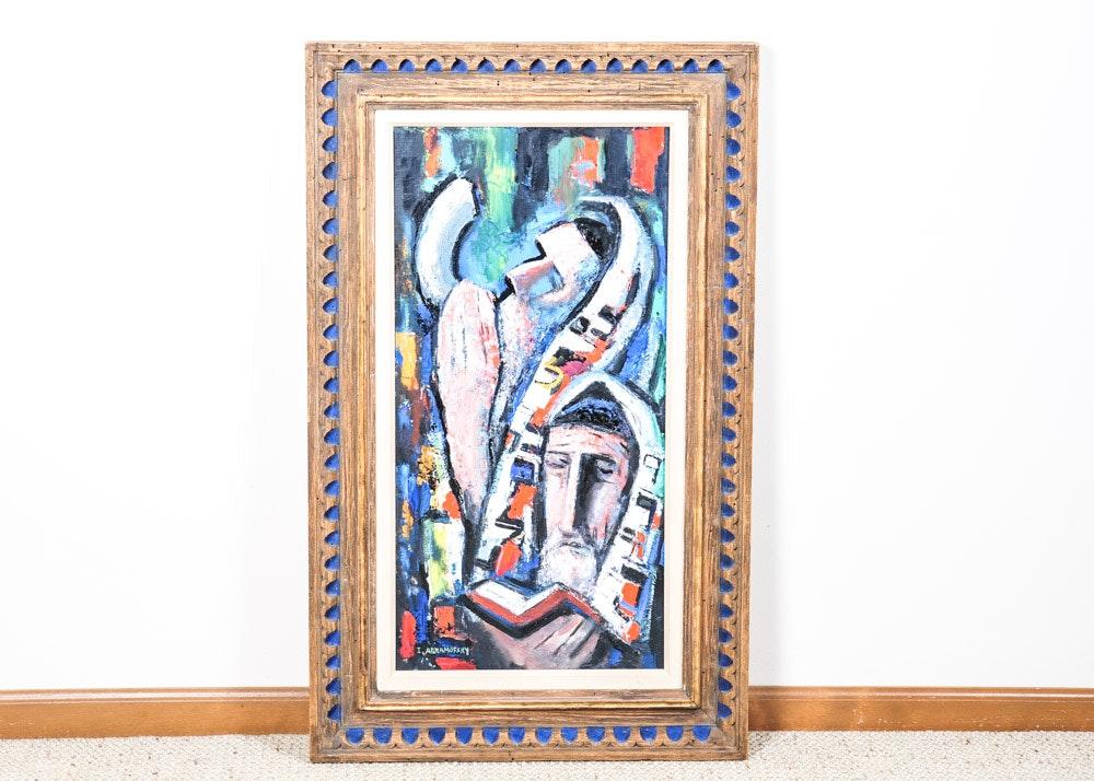 Israel Abramofsky Original Oil Painting