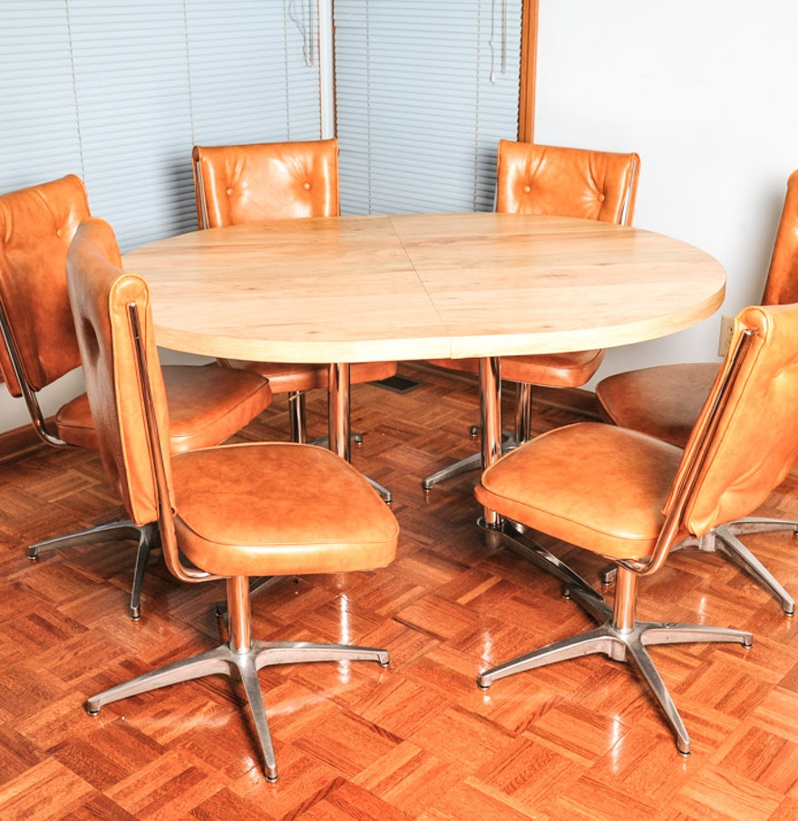 Atomic Mid Century Modern Chromcraft Kitchen Table And