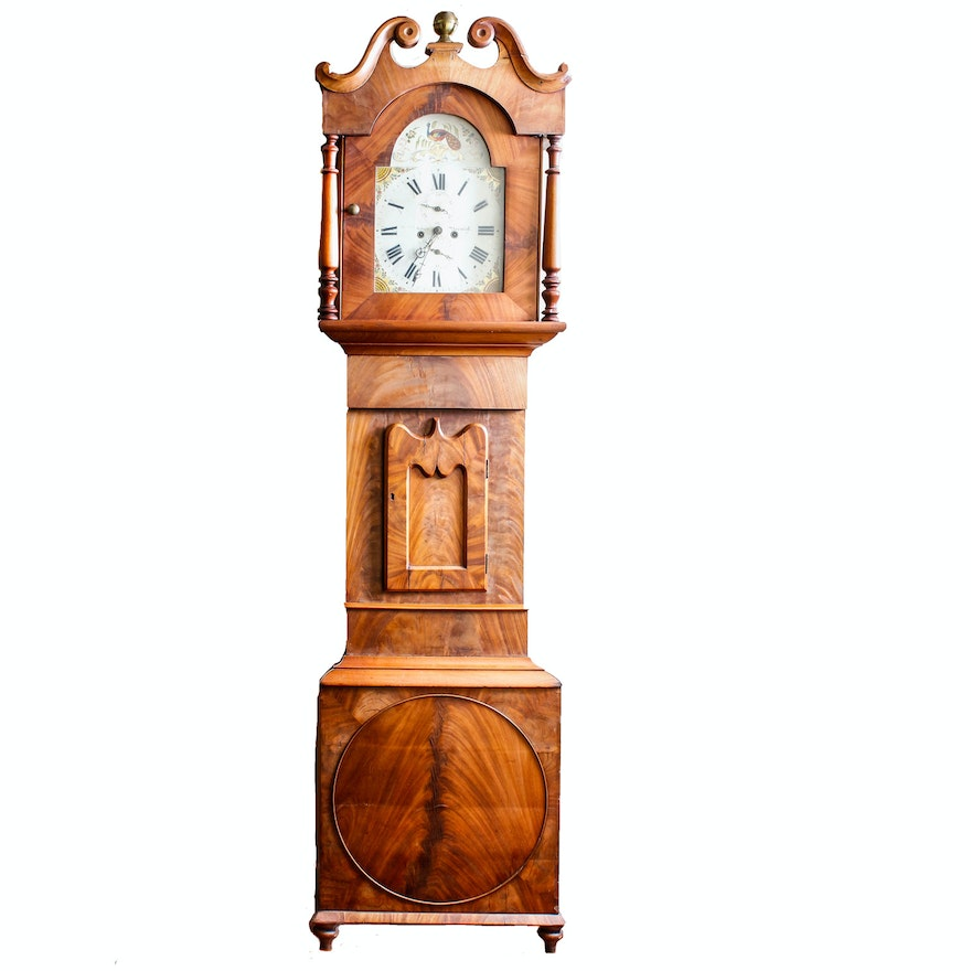 Antique european grandfather clock ebth for European motors fort worth