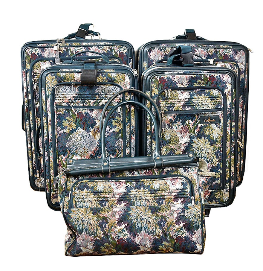 Five Piece Atlantic Floral Luggage Set Ebth