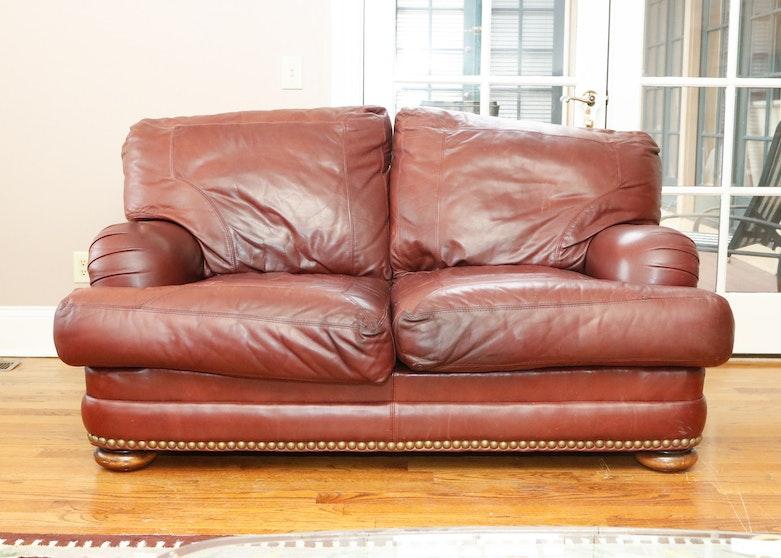 Enjoyable Sealy Leather Upholstered Loveseat Evergreenethics Interior Chair Design Evergreenethicsorg