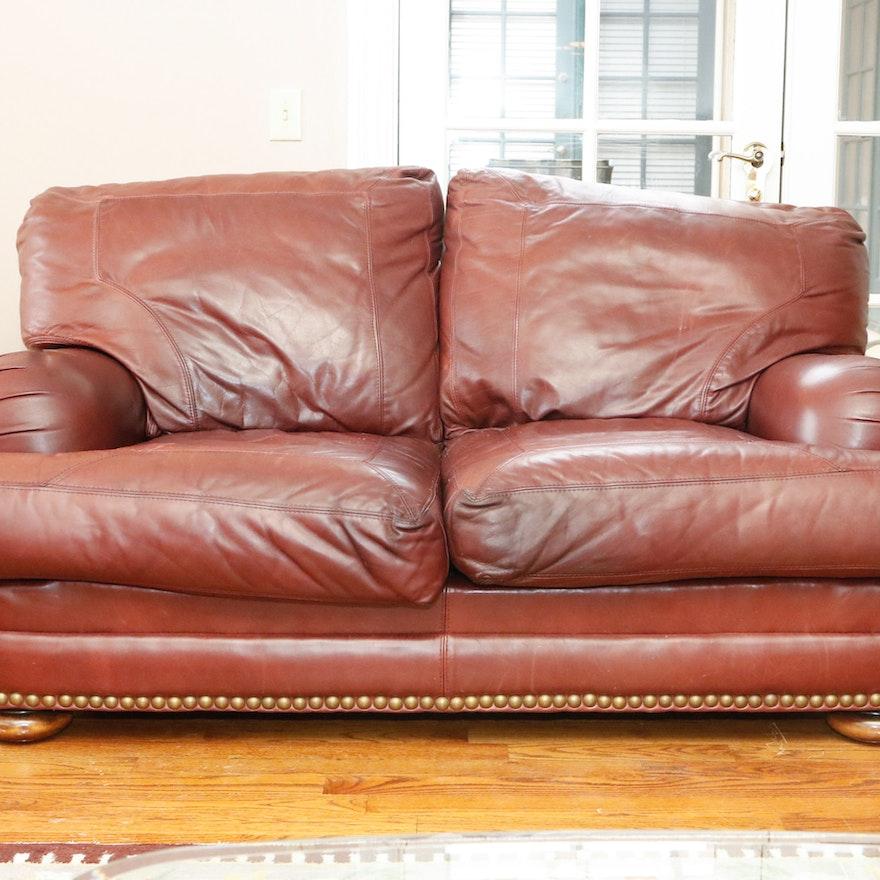 Wondrous Sealy Leather Upholstered Loveseat Evergreenethics Interior Chair Design Evergreenethicsorg