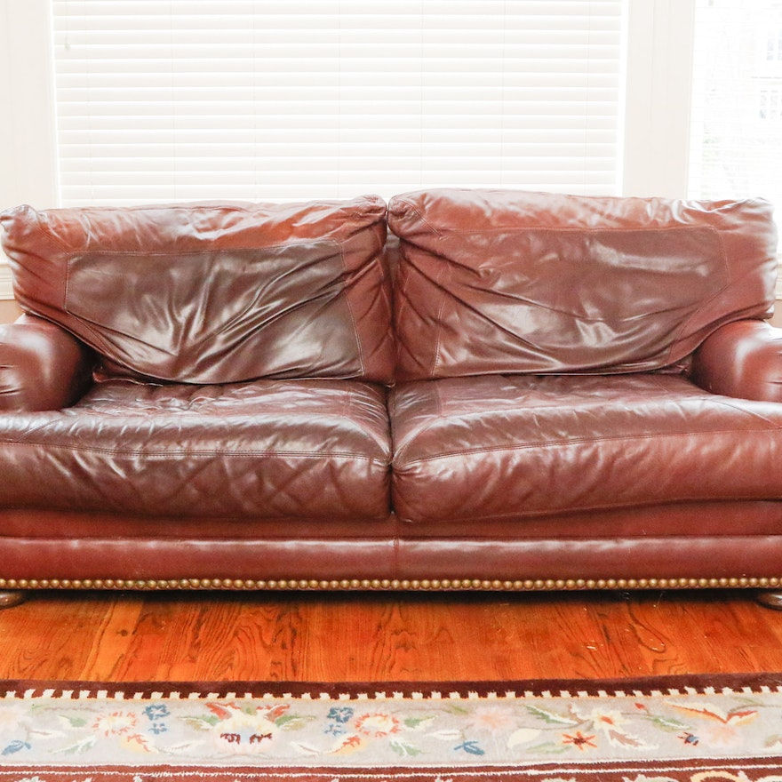 Sealy Leather Upholstered Sofa : EBTH