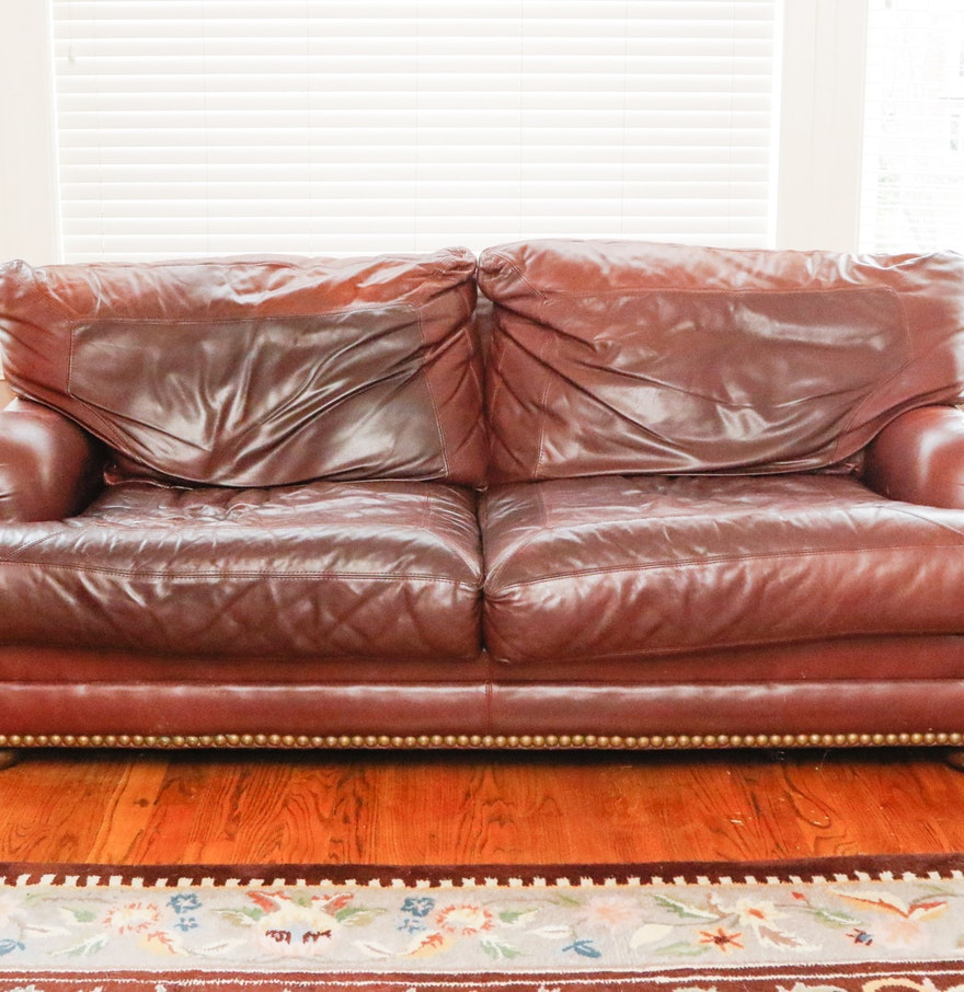 Sealy Leather Upholstered Sofa