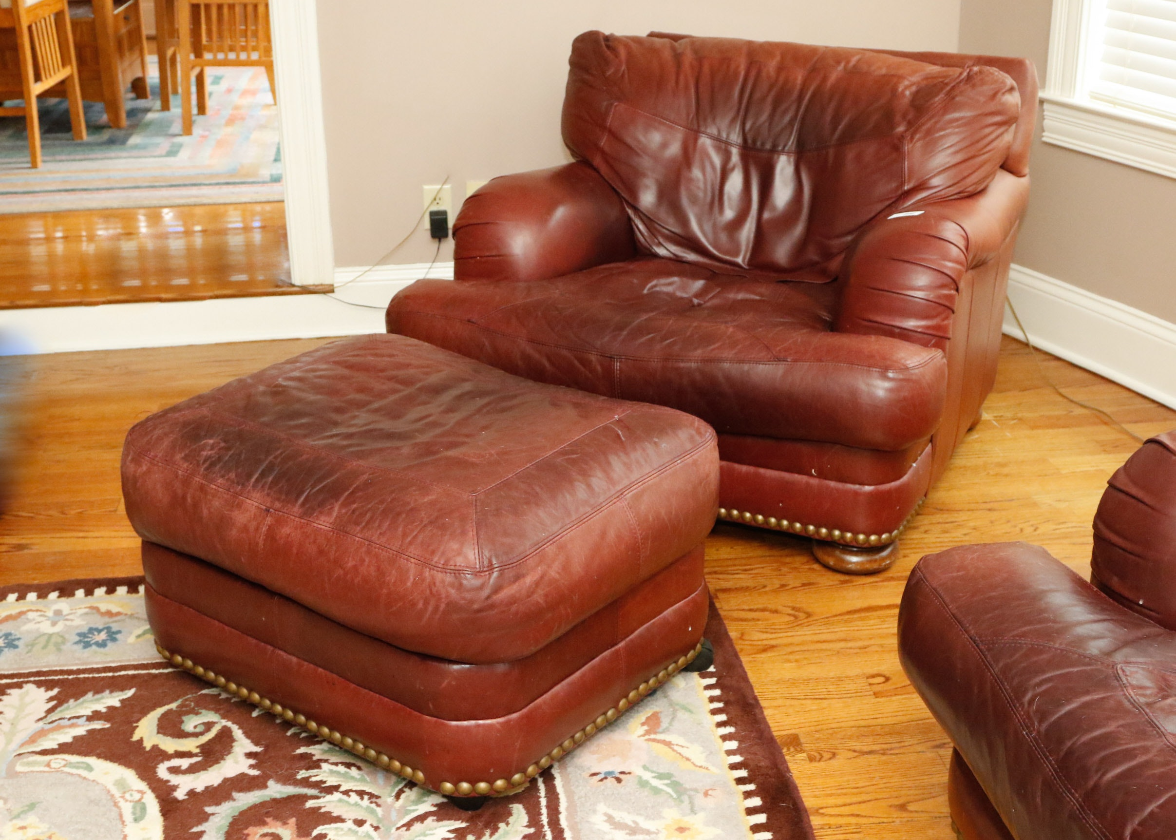 Best of Sealy Leather Upholstered Club Chair and Ottoman Lovely - Best of Sealy Leather sofa Simple
