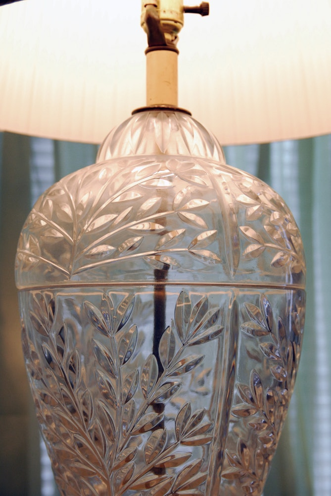 Vintage Falkenstein Glass Table Lamp Ebth