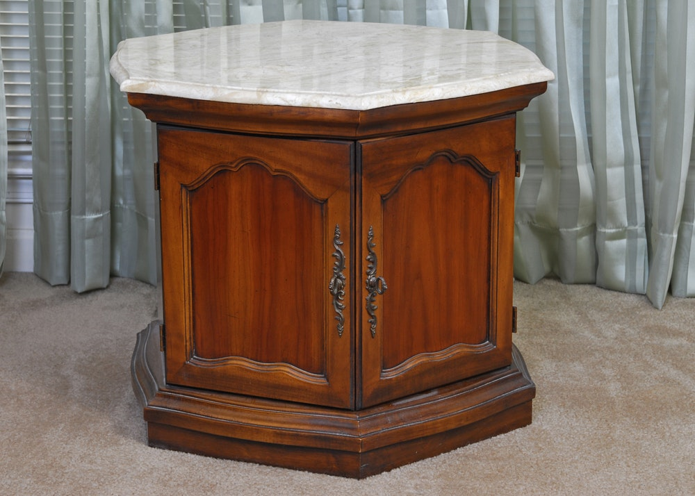 Lovely Vintage Delwood Hexagon End Table ...