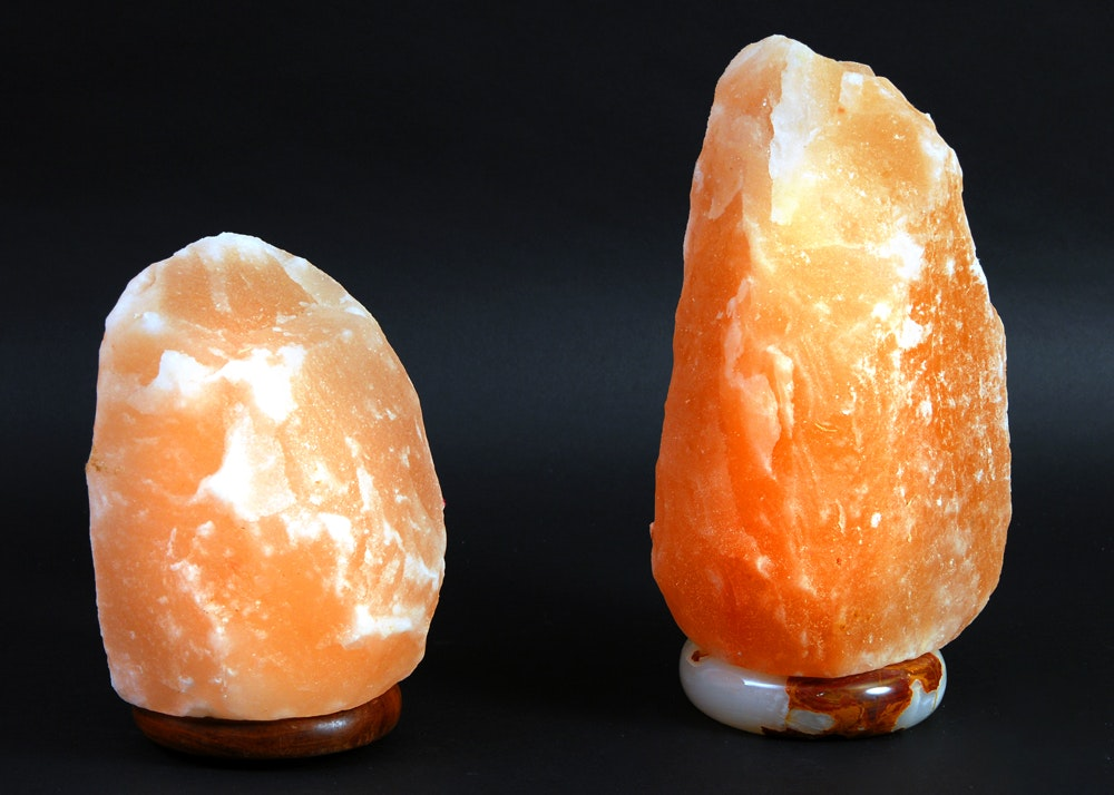 History Of Salt Lamps : Pair of Himalayan Crystal Salt Lamps : EBTH