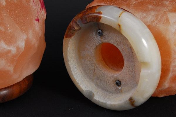 Himalayan Pink Salt Lamp Bulb Wattage : Pair of Himalayan Crystal Salt Lamps : EBTH
