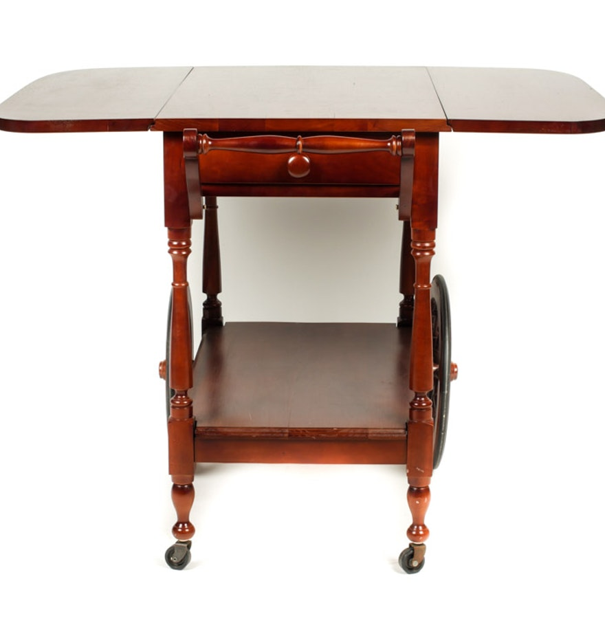 Red oak collapsible side table ebth for Red side table