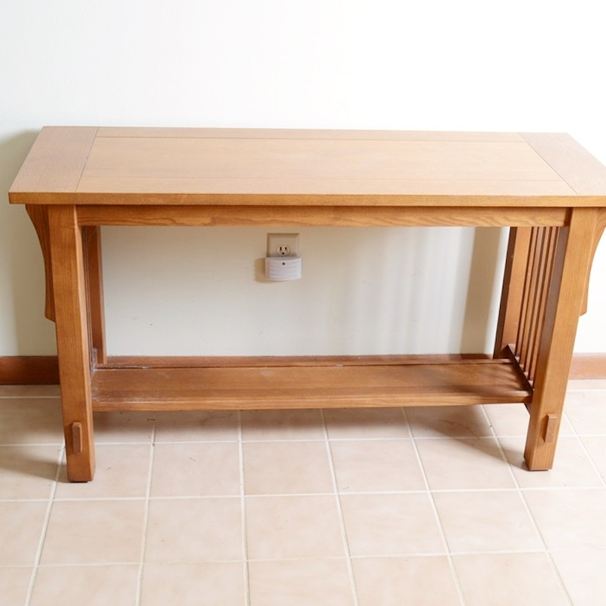 Bett Oak Mission Style Sofa Table