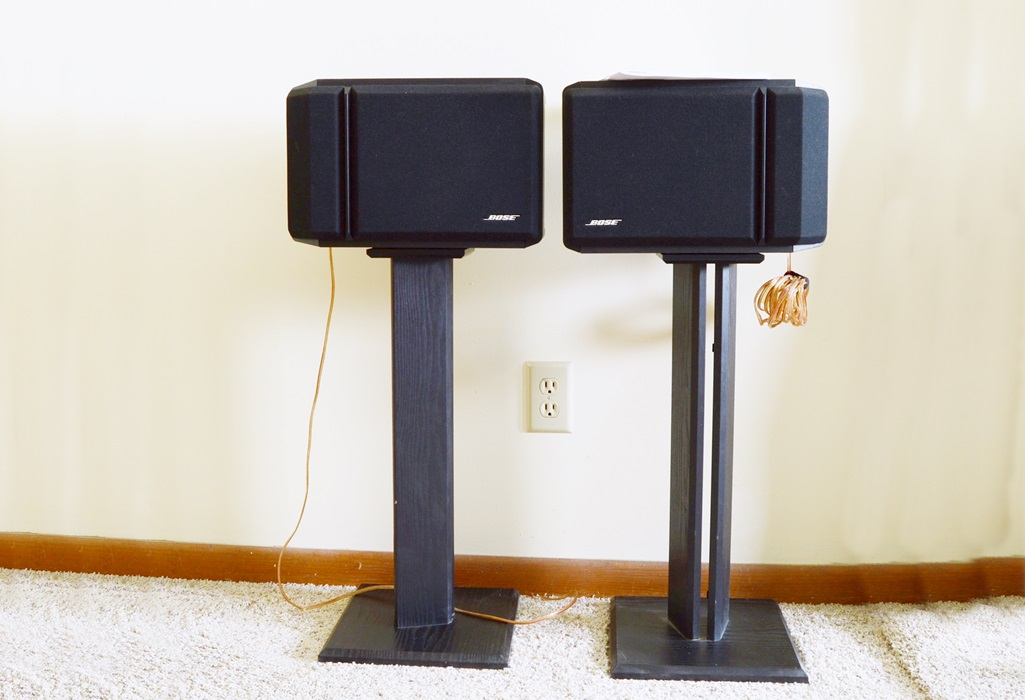 bose 201 series iv. bose 201 series iv speakers with stands iv e