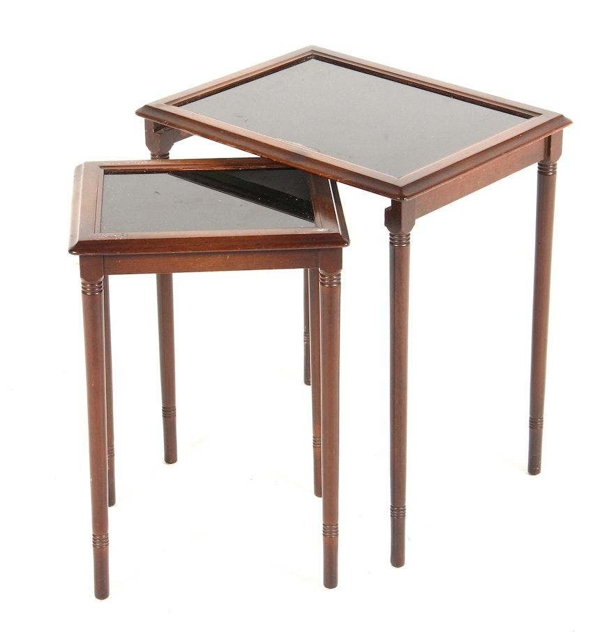 Vintage Ferguson Cherry Frame Nesting Tables. Vintage Ferguson Cherry Frame Nesting Tables   EBTH