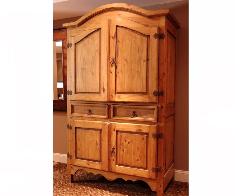 Mission Style Pine Armoire
