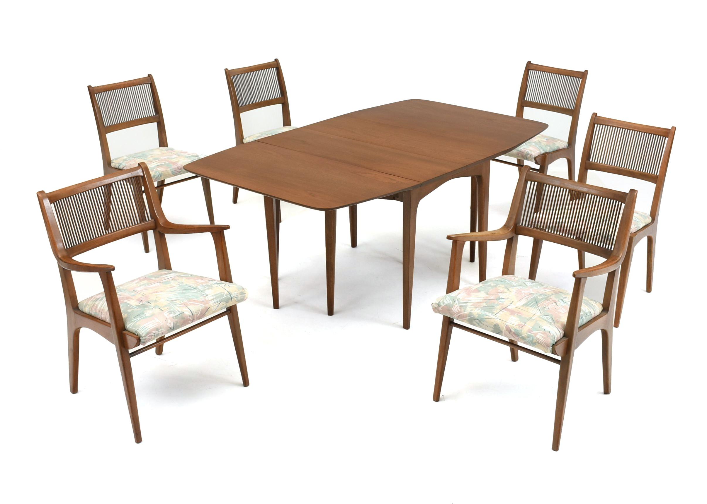 Ordinaire Drexel Profile John Van Koert Seven Piece Dining Set ...