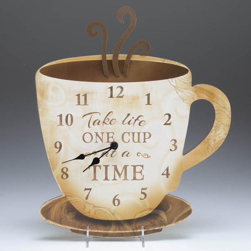 Novelty Coffee Themed Wall Clock