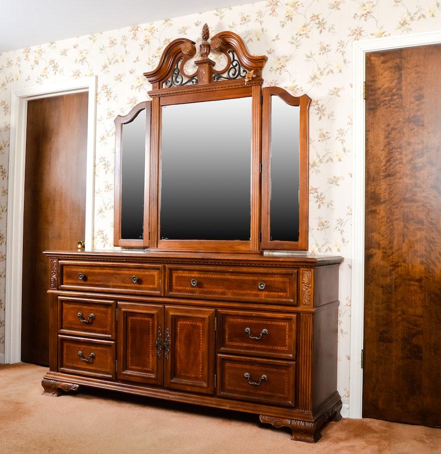 Collezione Europa Dresser With Mirror EBTH - Collezione europa furniture designs