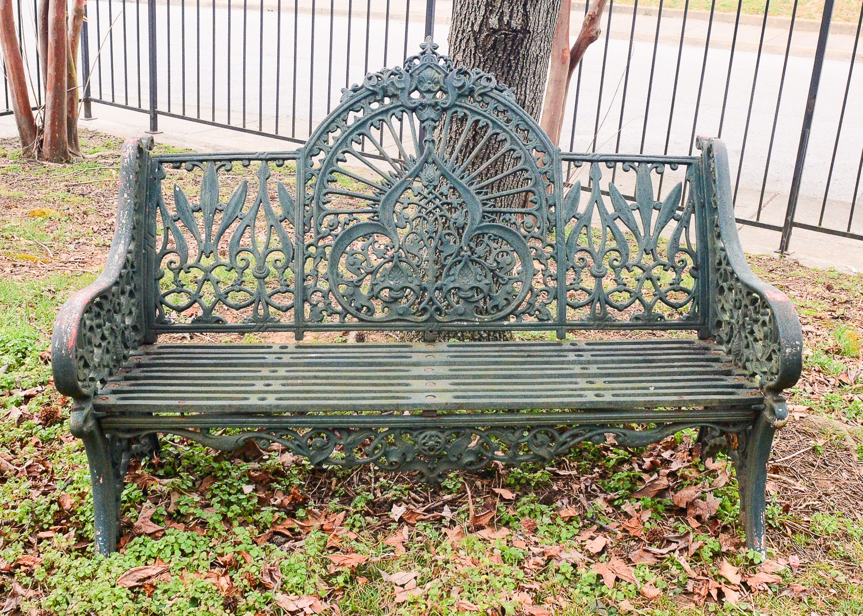 1880s Cast Iron Pierce Wexford Bench