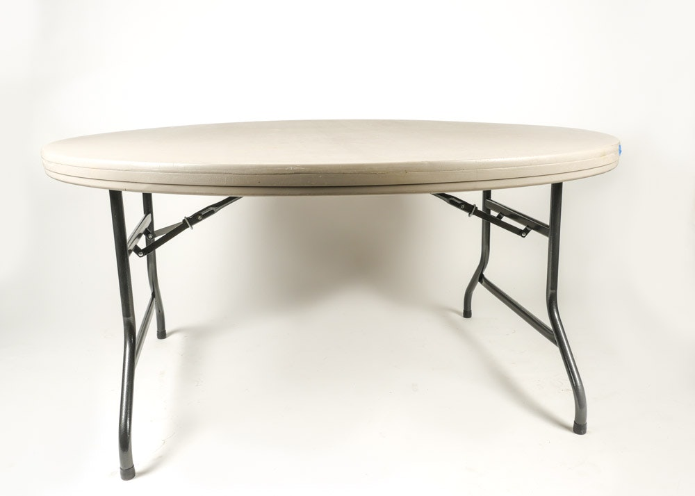 Large Round Collapsible Table ...