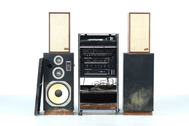 Fisher Stereo System, Cabinet, And Acoustic Research Speakers ...