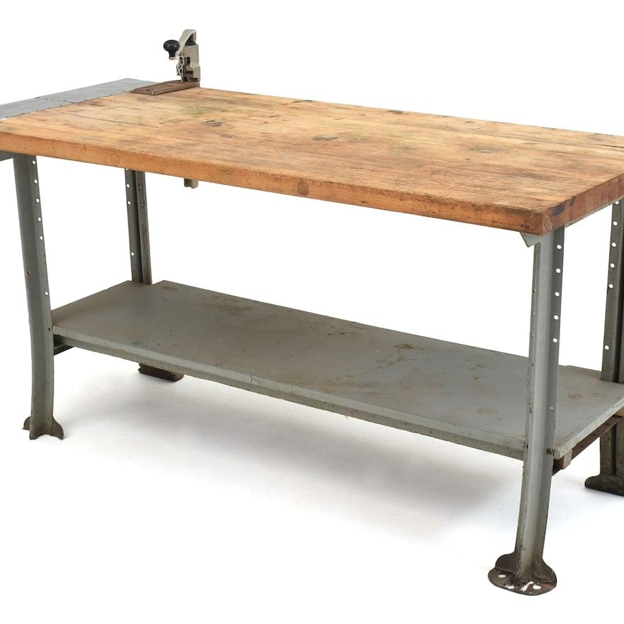 Industrial kitchen work table ebth industrial kitchen work table watchthetrailerfo