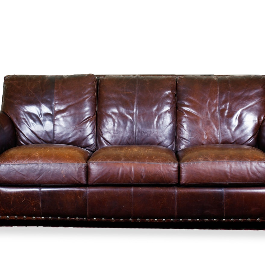 Large Leather Sofa Ebth