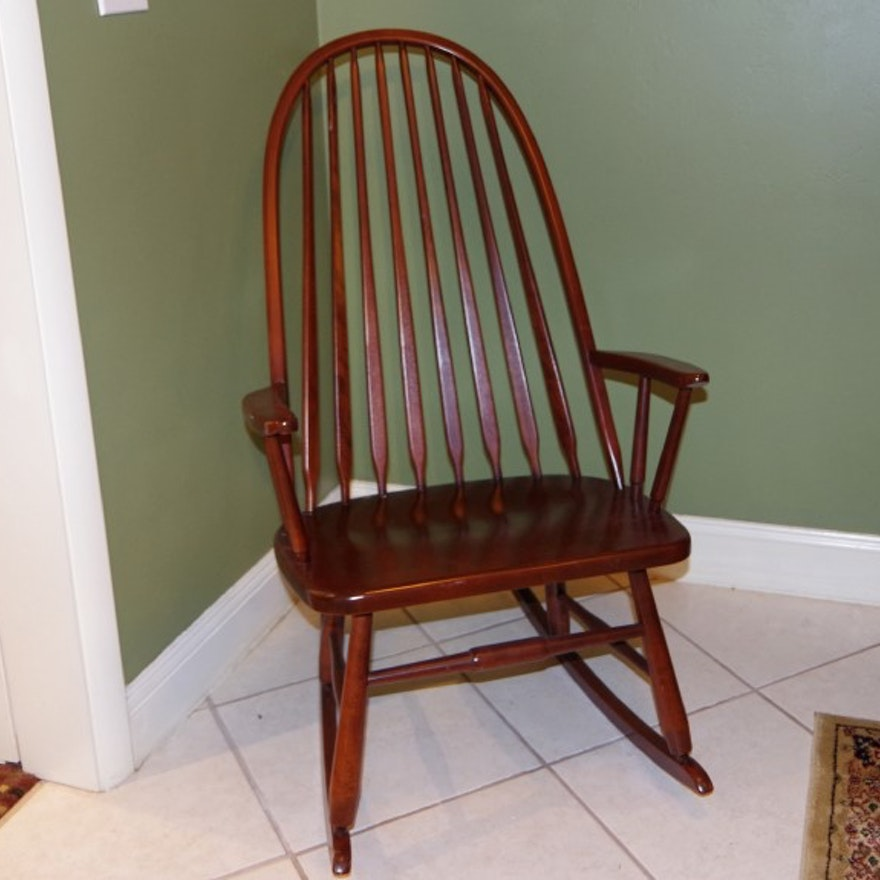 S Bent Amp Bros Vintage Rocking Chair Ebth