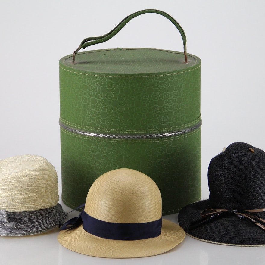 15c0ce6f8d94f Women s 1920s Era Hats and Hat Box   EBTH