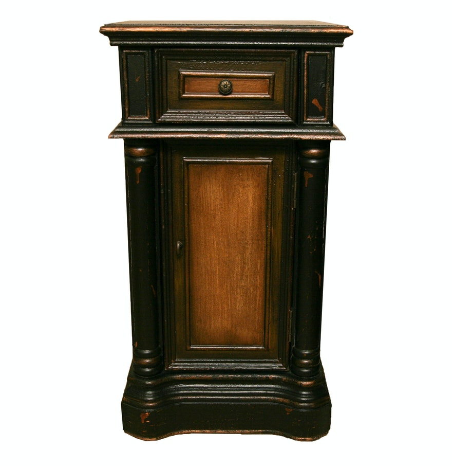 Rustic nightstand ebth for Tall rustic nightstands