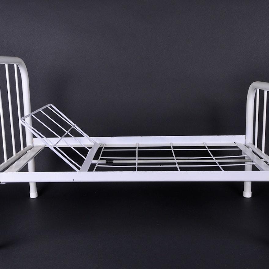 Vintage Adjustable Metal Frame Hospital Doll Bed : EBTH