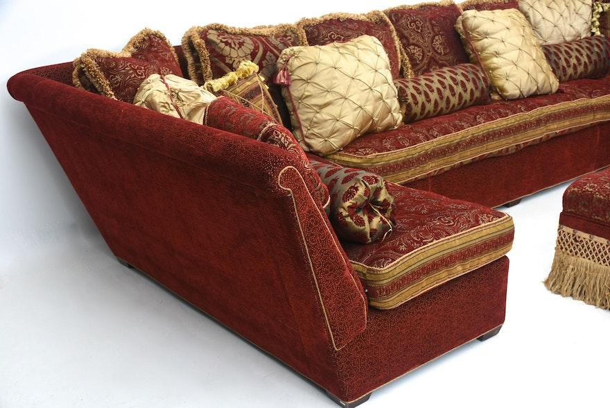 Quot Passementarie Quot Sofa In Italian Renaissance Style Brocade Damask Ebth
