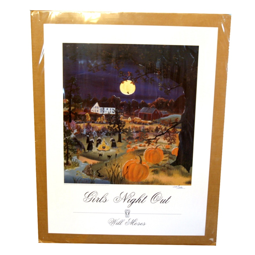 "Signed ""Girls Night Out"" by Will Moses 