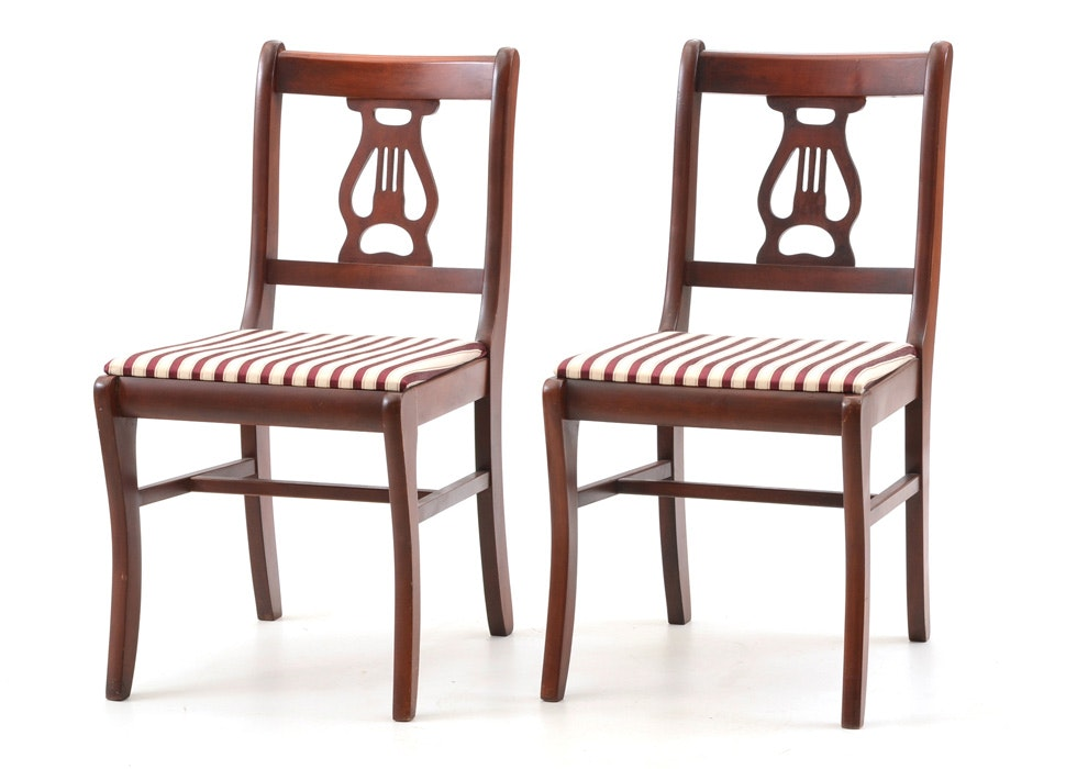 Sheraton Style Lyre Back Chairs ...