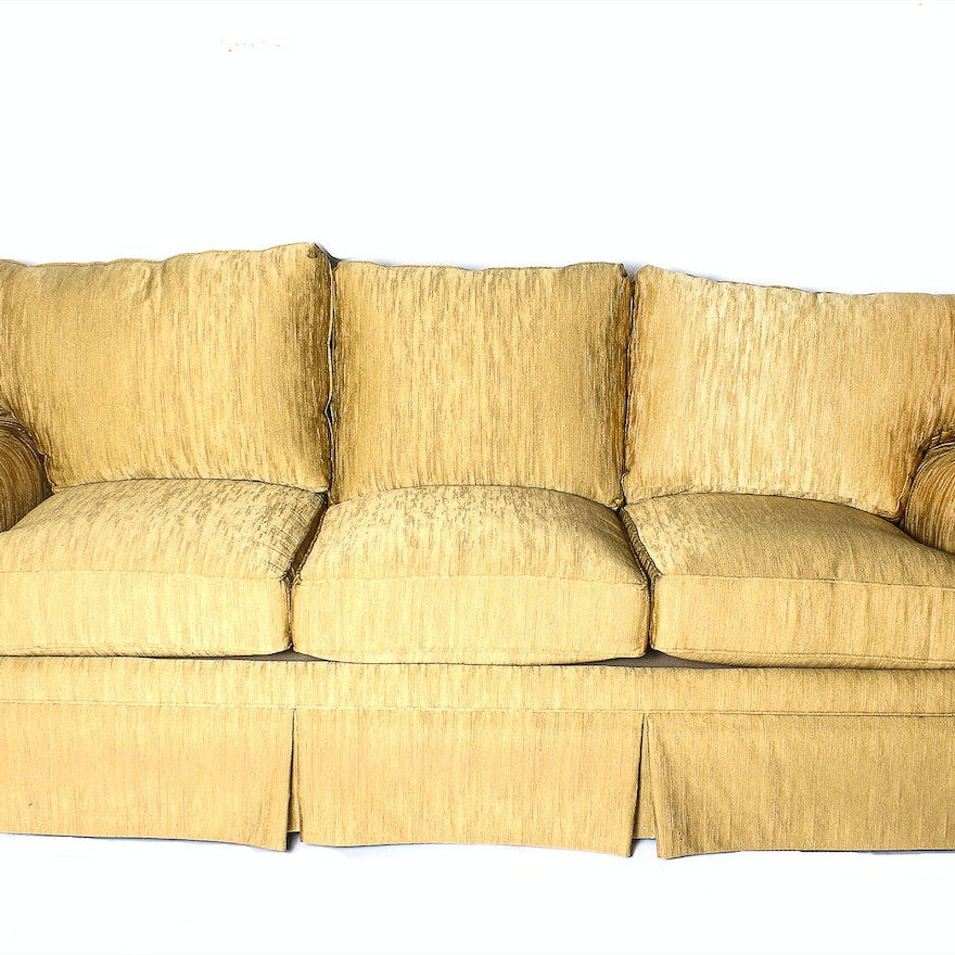 Henredon Gold Colored Sofa From