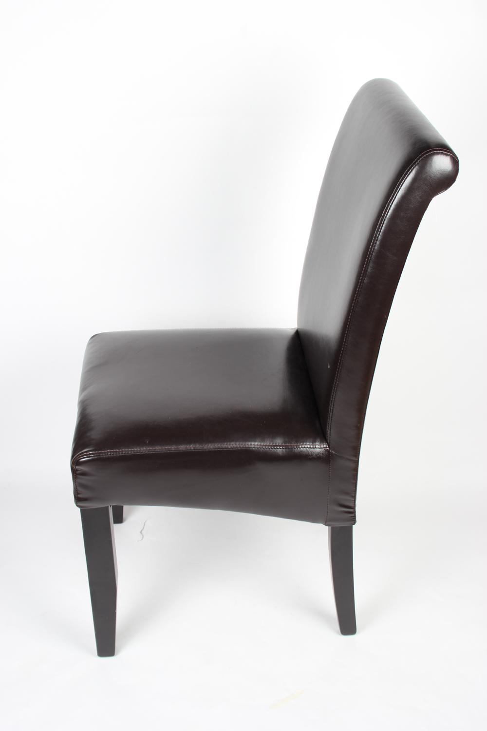 Vintage Carved Wood Vinyl Side Chair and Armless Chair : EBTH