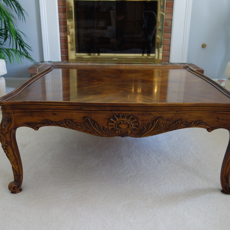Magnificent Henredon Villandry Burl Walnut Coffee Table Short Links Chair Design For Home Short Linksinfo