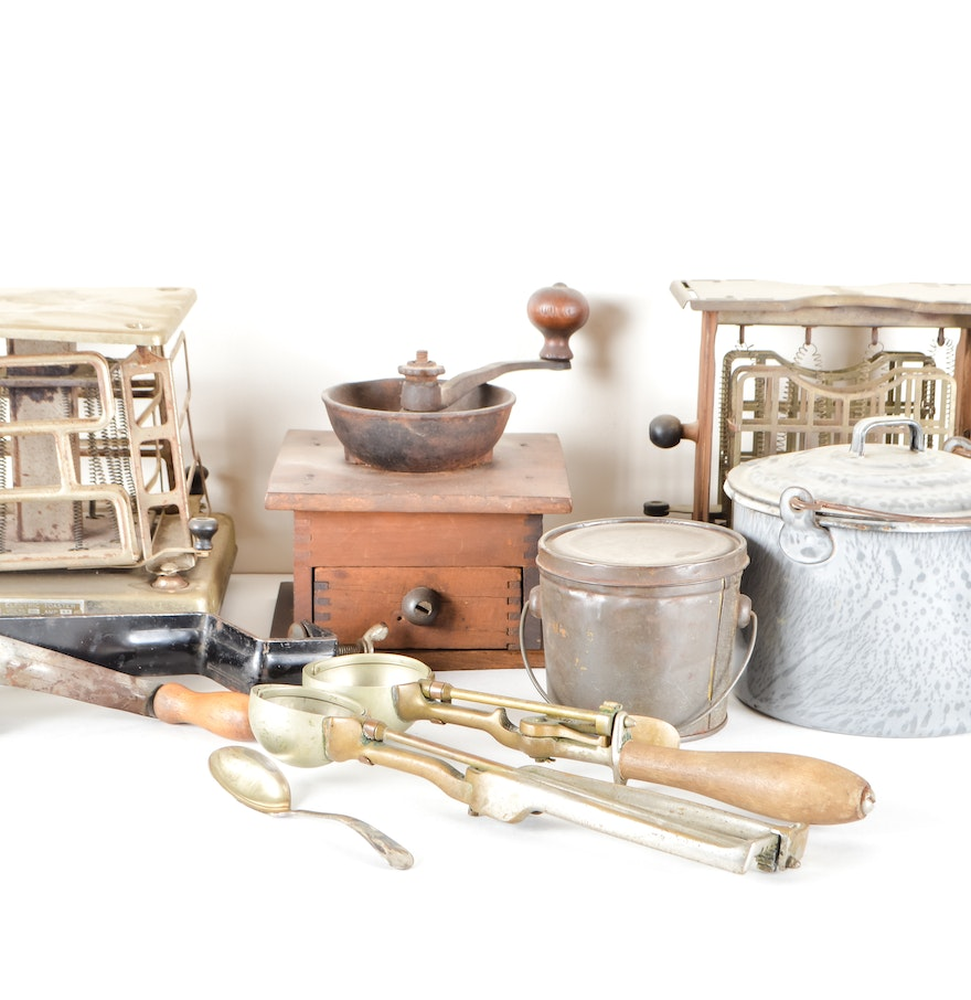 Collection Of Vintage Kitchen Accessories : EBTH