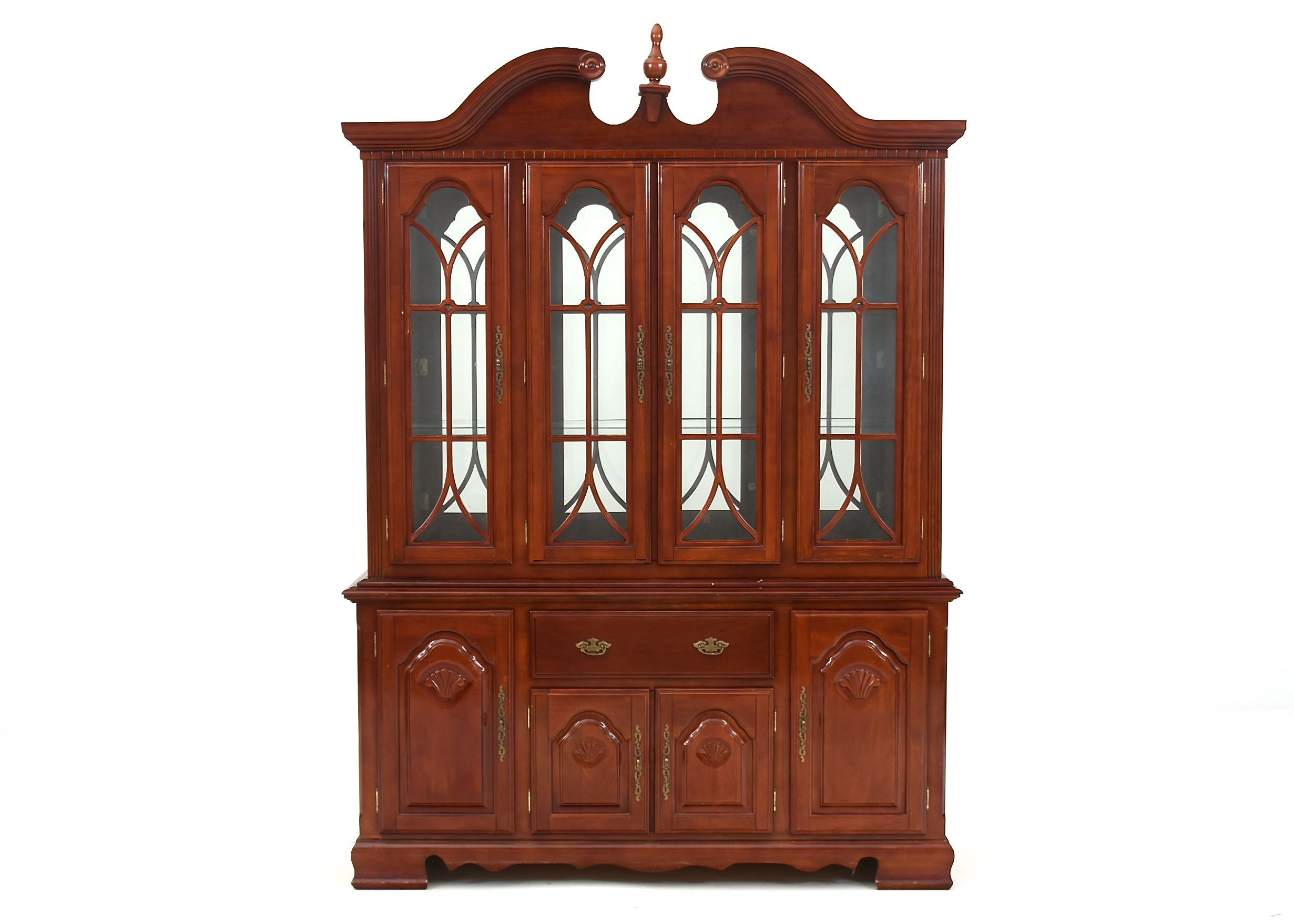 Queen Anne Style Cherry China Cabinet ...