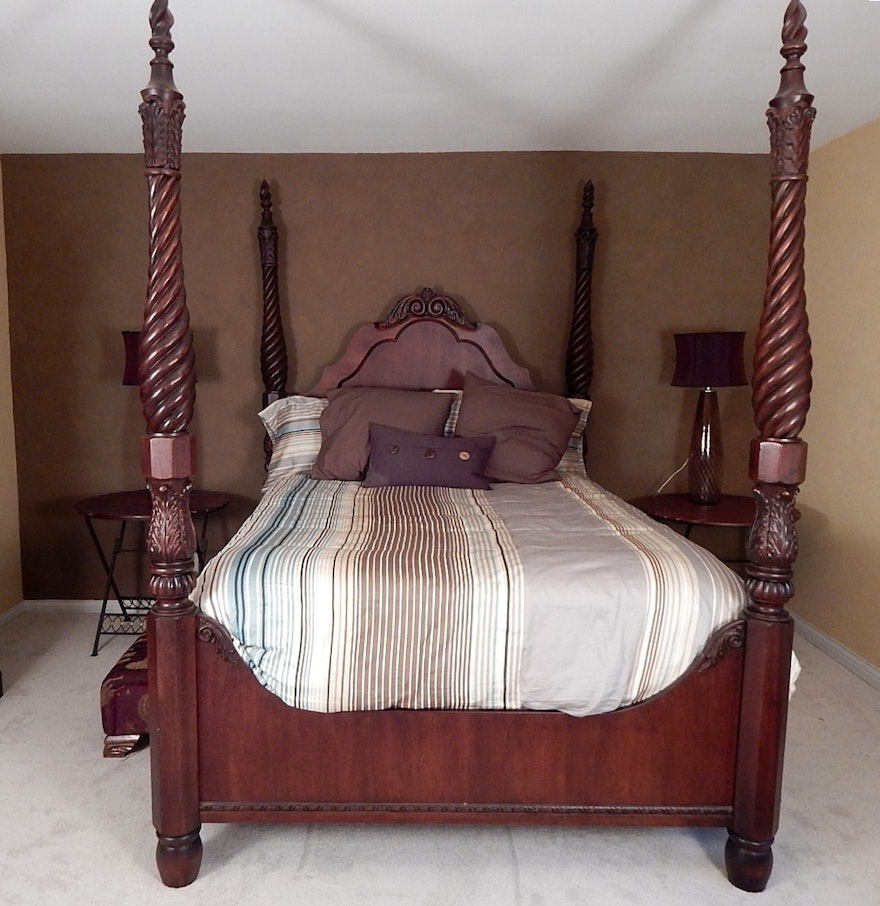 Thomasville Queen Four Poster Bed Ebth