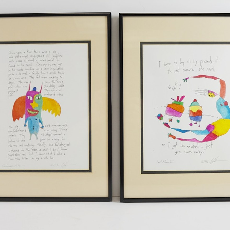 Brian Andreas Pair Of Reproduction Story People Prints