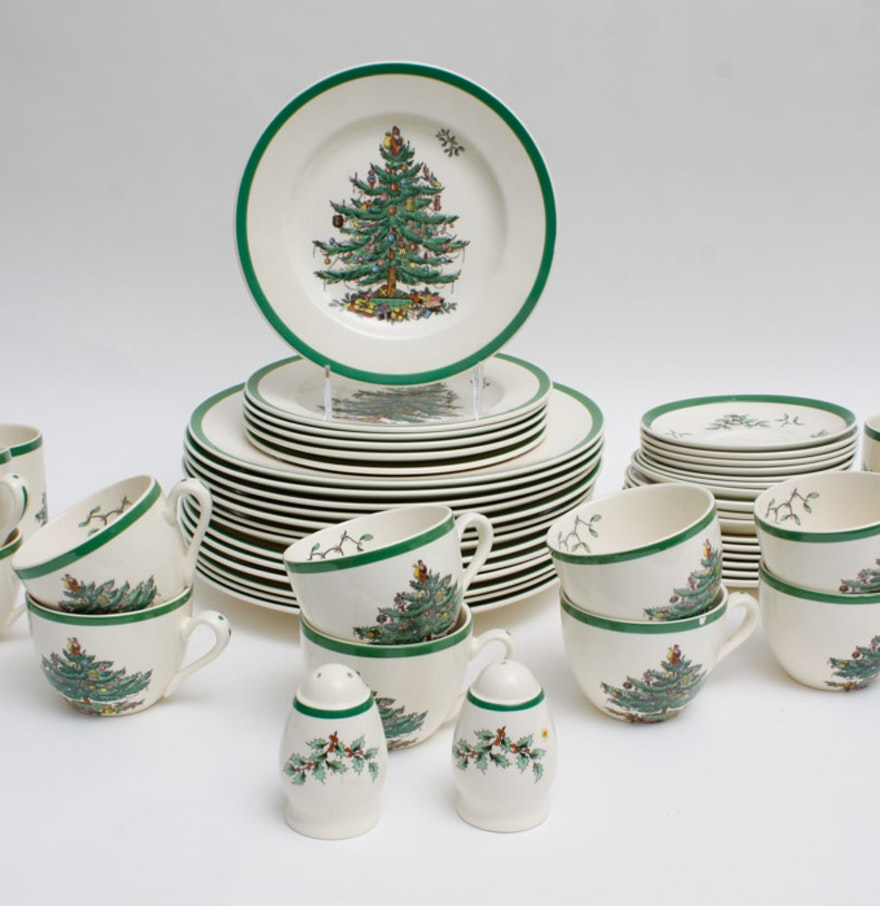"Spode Christmas Tree China Sale: Spode ""Christmas Tree"" China Set : EBTH"