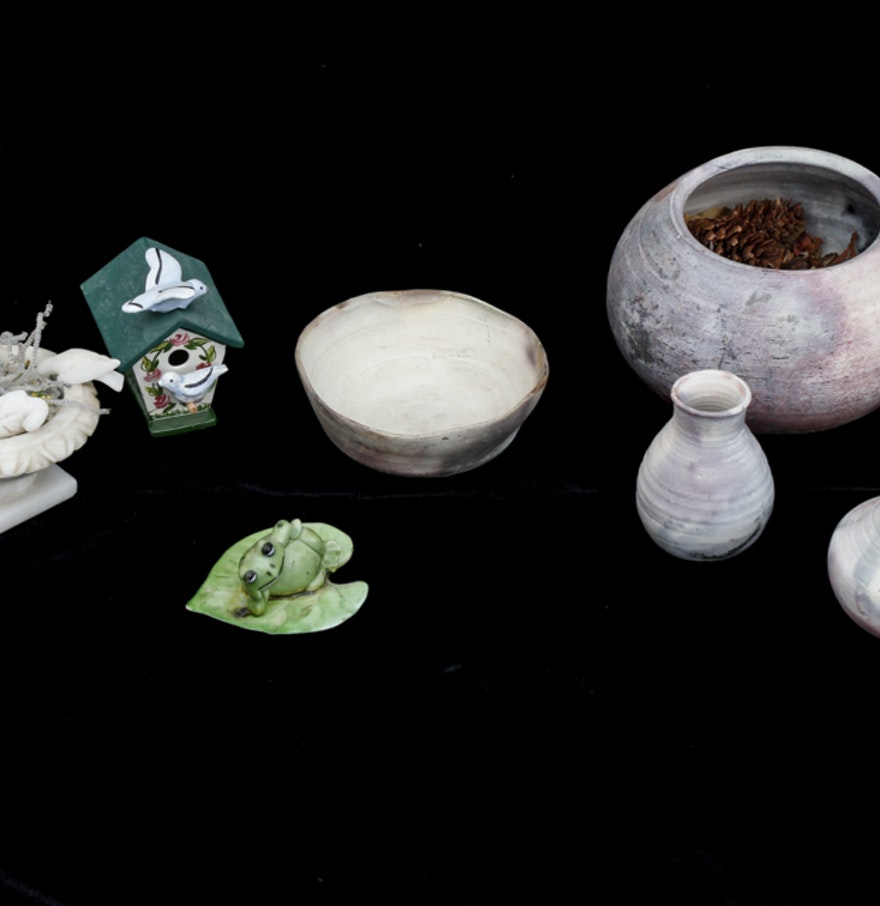 Collection Of Pottery And Home Decor Ebth
