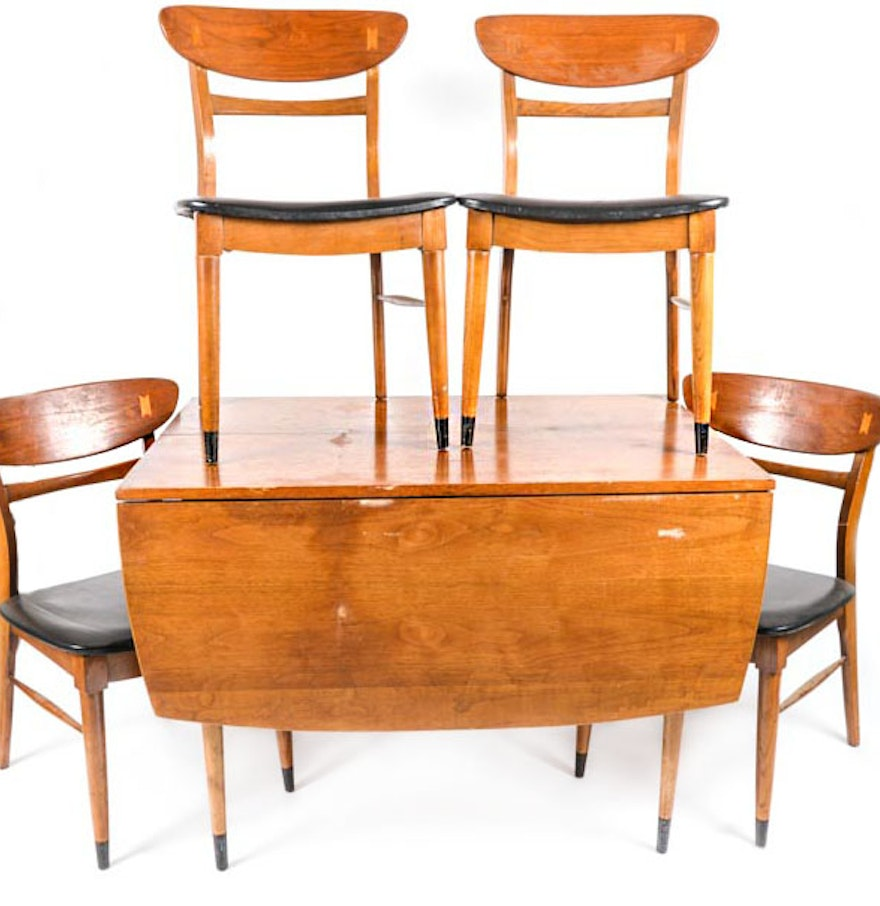 Mid Century Drop Leaf Dining Table And Chairs By Lane
