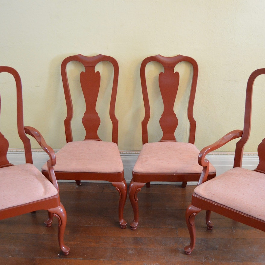 Drexel Heritage Cherry Queen Anne Style Dining Chairs