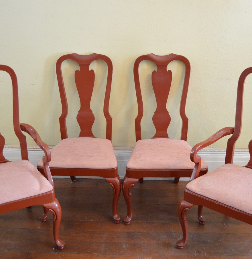 Drexel Heritage Cherry Queen Anne Style Dining Chairs : EBTH