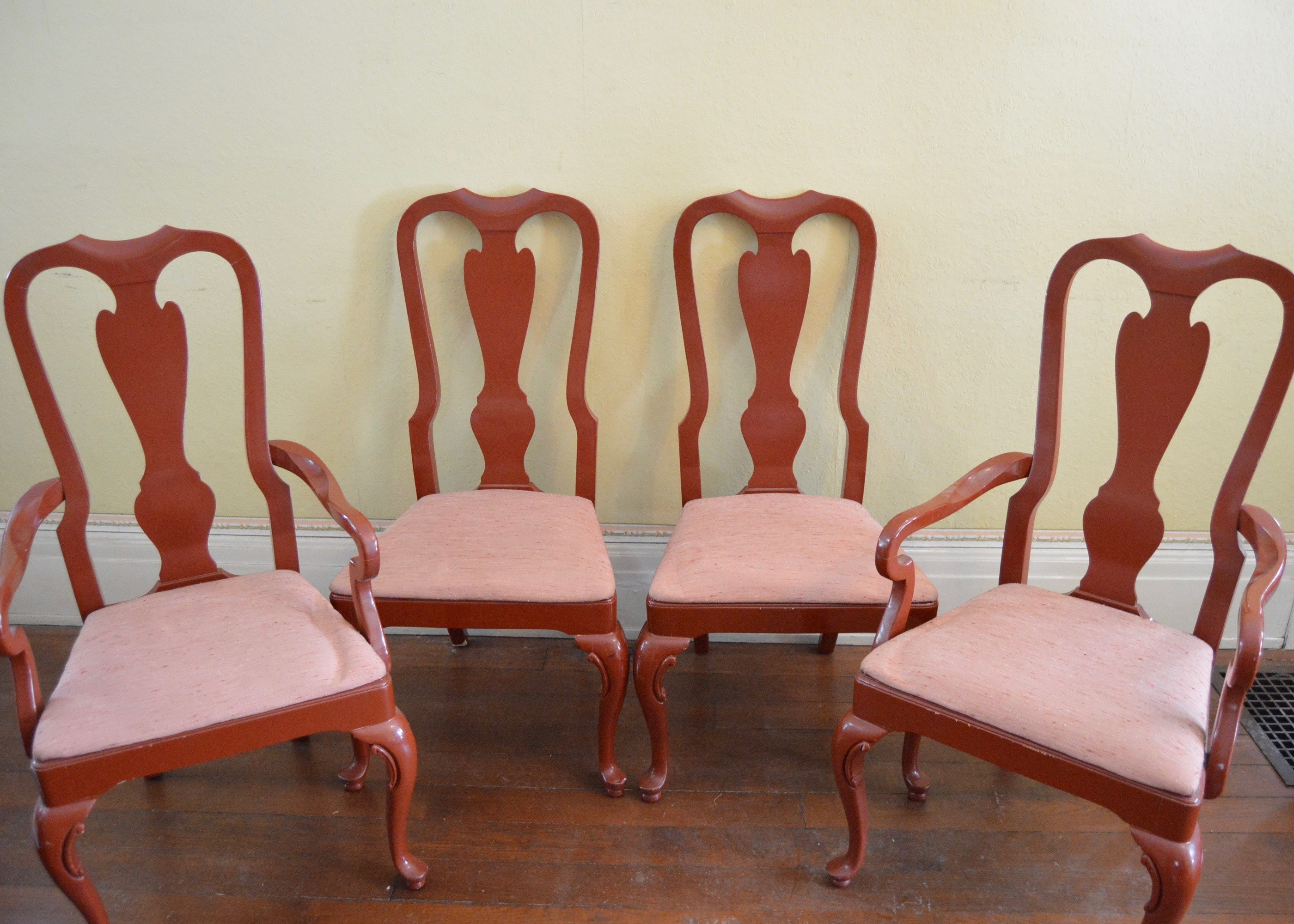 Drexel Heritage Cherry Queen Anne Style Dining Chairs ...