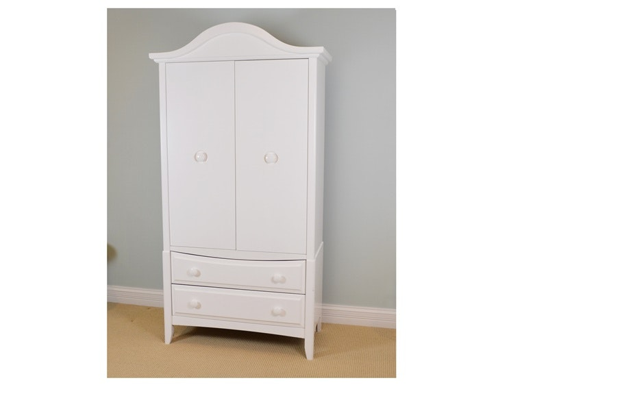 White Ragazzi Furniture Armoire Ebth