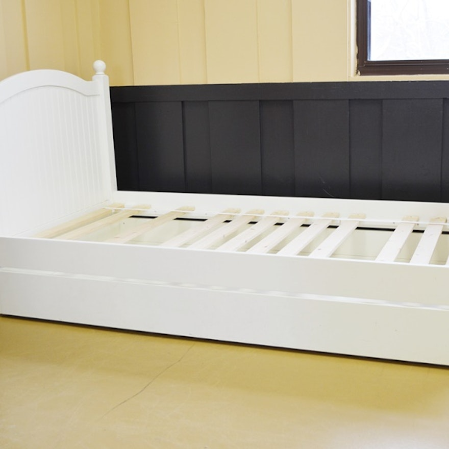 Pottery Barn Kids White Twin Bed With Trundle