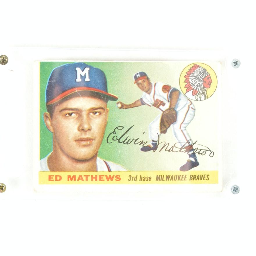 Ed Mathews 1955 Baseball Card